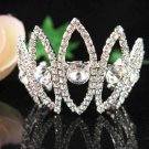 Bridal silver small crown veil,wedding headpiece woman hair accessories tiara regal 6928
