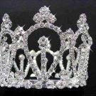 Bridal silver small crown veil,wedding headpiece woman hair accessories tiara regal 2419