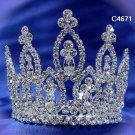 Bridal silver small crown veil,wedding headpiece woman hair accessories tiara regal 4671