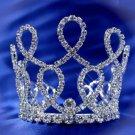 Handmade Silver bridal small crown veil,wedding headpiece woman hair accessories tiara regal 4989