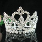 Handmade silver bridal small crown veil,wedding headpiece woman accessories tiara regal cn36