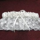 Handmade Ivory lace & pearl & ribbon & elastic fancy bridal garter wedding woman accessories 8126