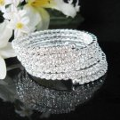 Bridal sparkle silver crystal rhinestone bracelet veil,wedding handmade crystal accessories 1322