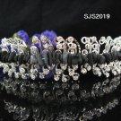 Handmade Bridal rhodium alloy comb veil,wedding tiara headpiece accessories regal 2019