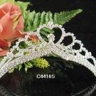 Handmade elegance Bridal silver small comb veil,wedding tiara headpiece accessories regal 4418S