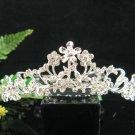Handmade alloy floral Bridal silver comb veil,wedding tiara headpiece accessories regal  891S