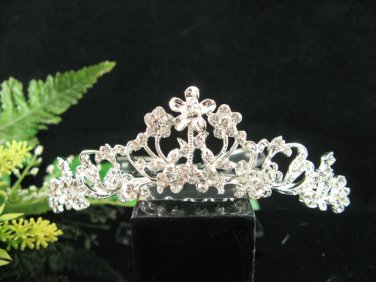 Handmade alloy floral Bridal silver comb veil,wedding tiara headpiece accessories regal  891S