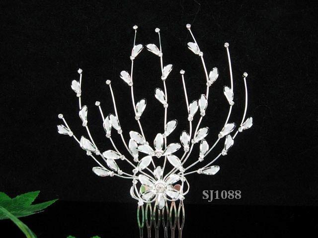Handmade alloy floral silver bridal comb,wedding tiara headpiece hair accessories regal 1088