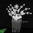 Handmade alloy floral silver small bridal comb,wedding tiara headpiece hair accessories regal 1784