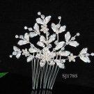 Handmade alloy floral silver pearl bridal comb,wedding tiara headpiece hair accessories regal 1785