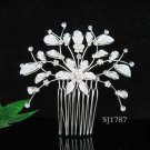 Handmade alloy floral silver small bridal comb veil,wedding tiara headpiece accessories regal 1787