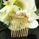 Handmade alloy pearl small bridal comb,wedding tiara headpiece woman accessories regal 1048G