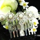 Handmade alloy silver pearl bridal comb,wedding tiara headpiece woman hairaccessories regal 1065S