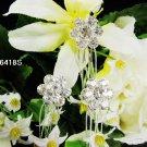 3 PC FLORAL silver small bridal comb, handmade wedding tiara headpiece hair accessories regal 6418