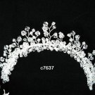 Silver crystal bridal comb,wedding tiara headpiece woman hair accessories regal 7637