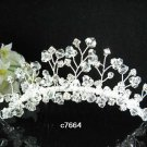 handmade silver bridal comb,wedding tiara headpiece woman hair accessories regal 7664