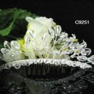 CRYSTAL silver bridal comb,handmade wedding tiara headpiece hair accessories regal 9251