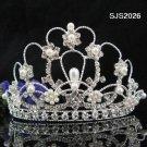 Huge pearl silver crown bridal comb,wedding metal headpiece hair accessories tiara regal 2026