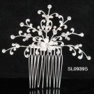 Handmade floral silver rhinestone alloy bridal comb,wedding woman hair accessories tiara SL939s