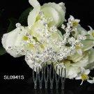Handmade floral silver alloy bridal comb,wedding woman hair accessories tiara sL941s