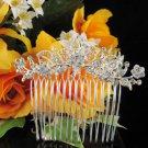 Handmade floral silver alloy bridal comb,wedding bridesmaid hair accessories tiara SL942s