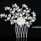 Handmade pearl floral silver alloy bridal comb,wedding woman hair accessories tiara SL955s
