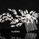 Handmade floral silver pearl bridal comb,wedding woman hair accessories tiara regal SL959s