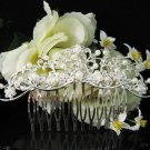 Handmade floral silver alloy bridesmaid comb,wedding bridal hair accessories tiara regal SL964s