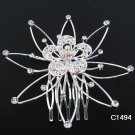 Handmade silver alloy floral bridal comb,wedding woman hair accessories tiara regal C1494