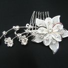 Handmade silver alloy floral bridal comb,wedding woman hair accessories tiara C20016