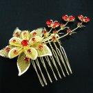 Handmade alloy floral 18k gold bridal comb,wedding woman hair accessories tiara regal C20016G