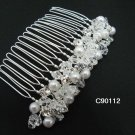 Handmade silver pearl alloy bridal comb,wedding woman hair accessories tiara 90112