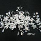 handmade alloy floral silver bridal comb,wedding woman hair accessories tiara regal 90151