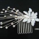 handmade silver alloy pearl floral bridal comb,wedding woman hair accessories tiara regal 90200