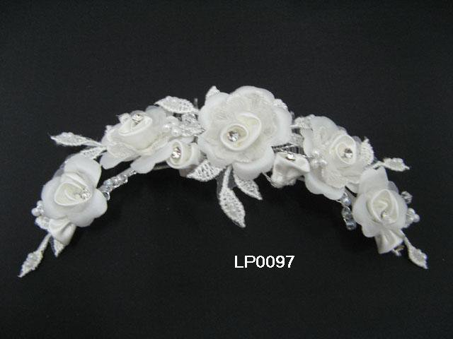 Silver handmade rhinestone bridal comb,wedding french lace floral woman hair accessories lp97