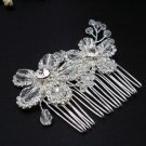 Silver handmade rhinestone bridal small comb,wedding tiara crystal floral hair accessories SL1059