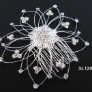 silver handmade alloy floral hair bridal comb,wedding tiara woman hair accessories 1207