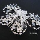 Bridal silver handmade rhinestone hair comb,wedding tiara crystal woman hair accessories SL1253