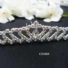 Bridal silver handmade sweetheart hair comb,wedding tiara headpiece hair accessories regal 1323