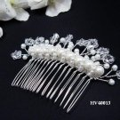 Bridal silver handmade daisy pearl hair comb,wedding tiara headpiece hair accessories regal 4013
