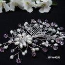 Bridal silver handmade hair comb,bridesmaid hair accessories wedding tiara regal 4035P