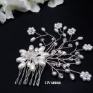 Bridal silver handmade headpiece,bridesmaid hair accessories floral pearl comb 4044***FREE SHIPPING