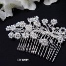 Bridal silver handmade headpiece,bridesmaid new hair accessories delicate floral pearl comb 4049