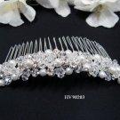 Bridal silver handmade headpiece,bridesmaid hair accesssories pearl comb 90203**FREE SHIPPING