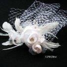 Bridal handmade silver satin tiara,bridesmaid hair accesssories pearl comb 126 **FREE SHIPPING