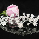 Silver bridal crystal comb,bridesmaid hair accesssories,wedding tiara regal 7188**FREE SHIPPING