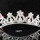Silver bridal crystal comb,bridesmaid handmade hair accessories,wedding tiara comb 8477