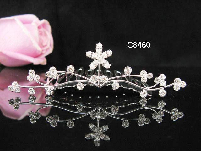 Floral Small Silver Hair Comb, Wedding Comb Jewelry, Wedding Comb, Bridal Comb 8460