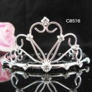 Silver bridal crystal comb,bridesmaid handmade hair accessories,wedding tiara comb 8516