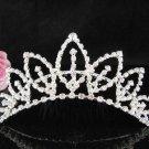 Silver bridal crystal comb,bridesmaid hair accesssories,wedding tiara regal 8518**FREE SHIPPING